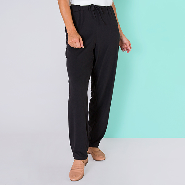 Emelia Velvet Touch Trouser Black