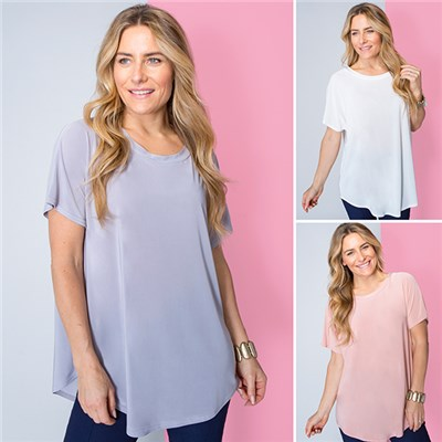 Nicole Soft Touch Scoop Neck Top (3 Pack)