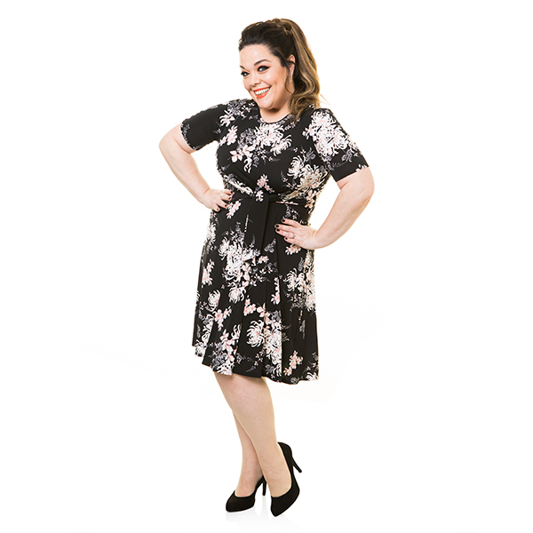 10% off Just Be You Print Tie Dress