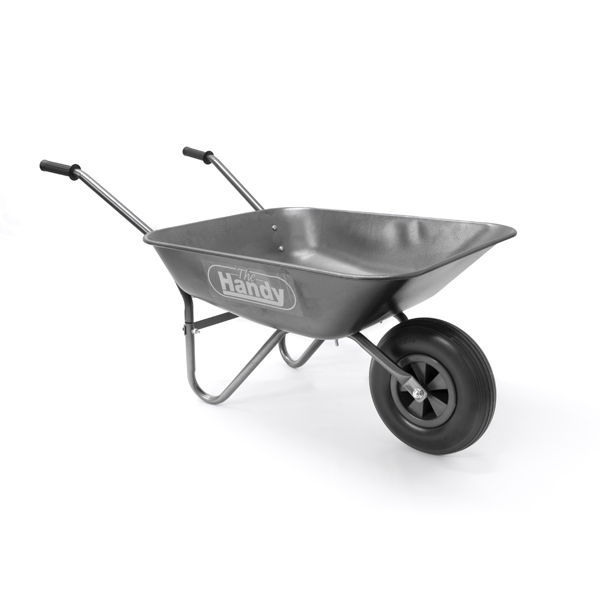 The Handy Galvanised Wheelbarrow 65 Litre No Colour