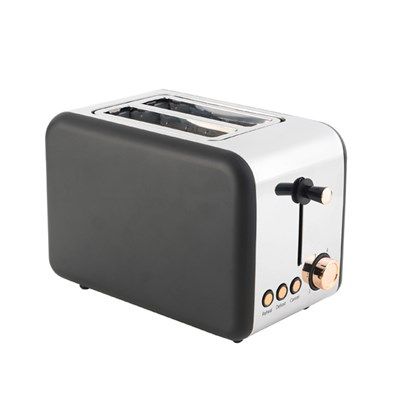 Salter 2 Slice Matte Black and Rose Gold Toaster