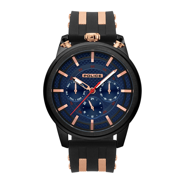 £100 off Police Gents Upside Watch with Silicone Strap
