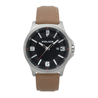 Police Gent's Clan Watch with Genuine Leather Strap
