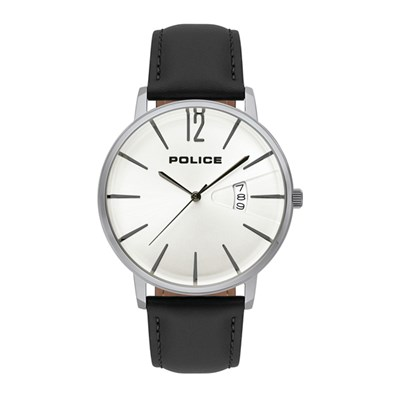 Police Gent's Virtue Watch with Genuine Leather Strap