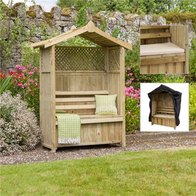 Dorset Arbour with Pad & Seat Cover