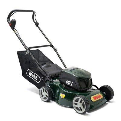Webb WER16LIHP Push 4 Wheel Cordless Rotary Lawnmower 41cm - 16in