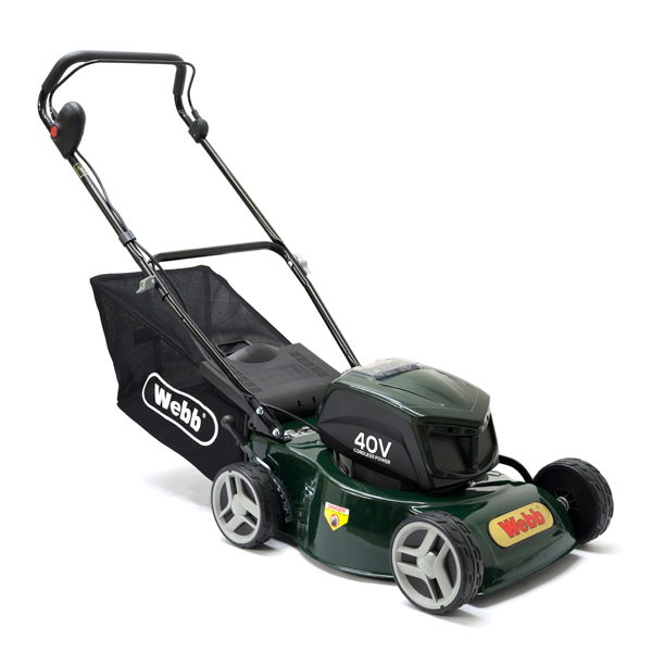 Webb WER16LIHP Push 4 Wheel Cordless Rotary Lawnmower 41cm - 16in No Colour