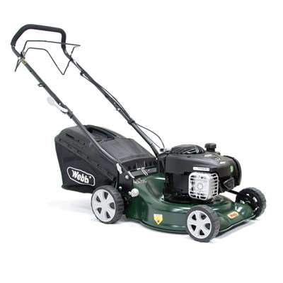 Webb Supreme Self Propelled 4 Wheel Petrol Rotary Lawnmower 41cm - 16in