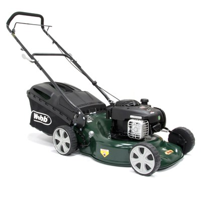 Webb WER18HP Supreme Push 4 Wheel Petrol Rotary Lawnmower 46cm - 18in