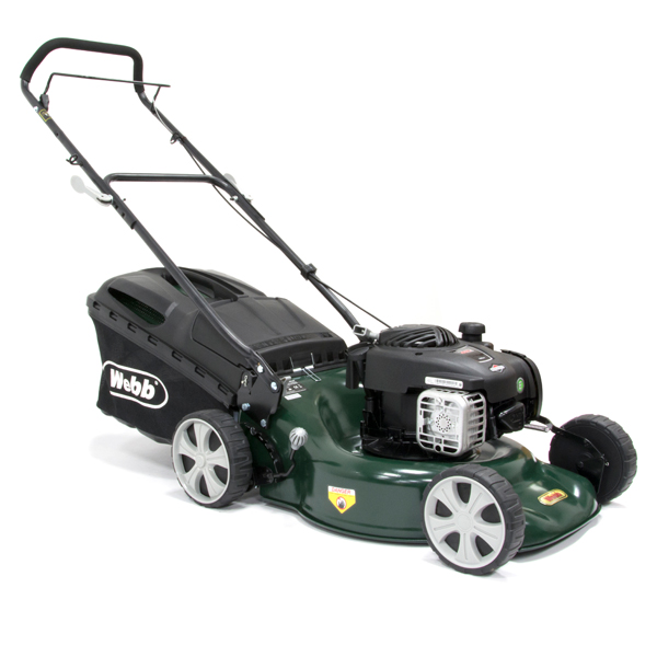 Webb WER18HP Supreme Push 4 Wheel Petrol Rotary Lawnmower 46cm - 18in No Colour