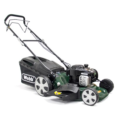 Webb Supreme Self Propelled Petrol Rotary Lawnmower  46cm (18in)