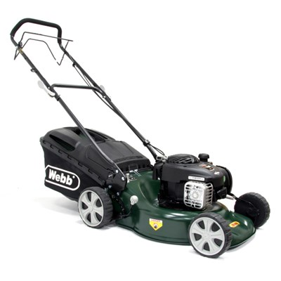 Webb WER18SP  Supreme Self Propelled Petrol Rotary Lawnmower 46cm - 18in