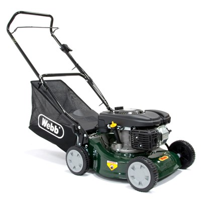 Webb WER41HP Classic Push Petrol Rotary Lawnmower 41cm - 16in