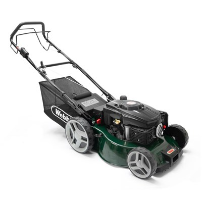 Webb WER460SPES Classic Self Propelled Electric Start Petrol Rotary Lawnmower 46cm - 18in