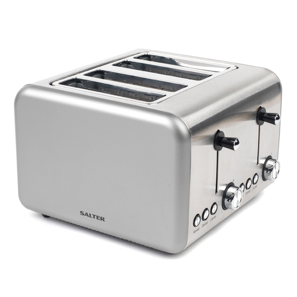 Salter Polaris Titanium 4 Slice Toaster No Colour