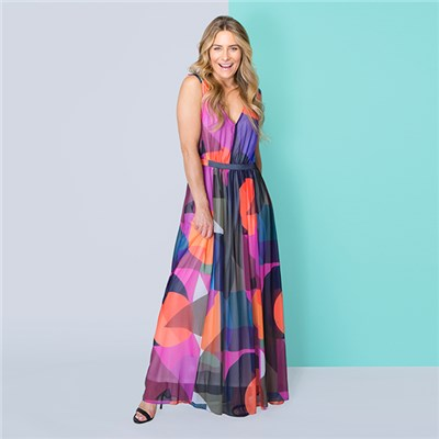 Phase Eight Printed Maxi Dress