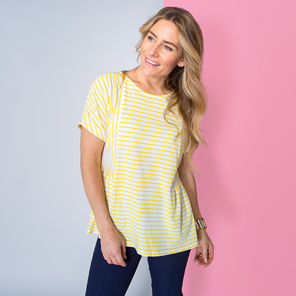 Phase Eight Stripe Top Ivory/Yellow