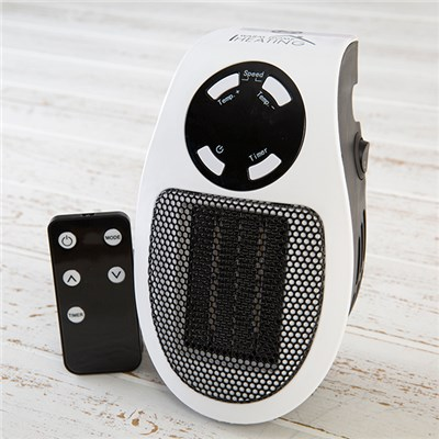 Warm Home Ceramic Plug In Heater with Variable Speeds and Timer