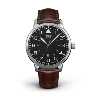 Aviator Airacobra Gent's Swiss Ltd Edt Watch with Genuine Leather Strap
