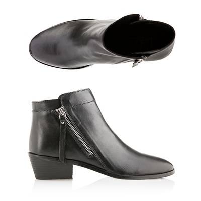 Leather Collection Double Zip Boot