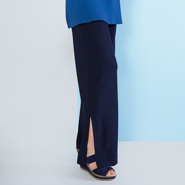 Cruise Away Wide Leg Trouser Navy