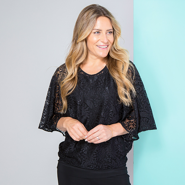 Cruise Away Lace Top Black