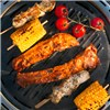 Portable BBQ Grill with Bag & Lid with Built In Thermometer plus BBQ Tools Black