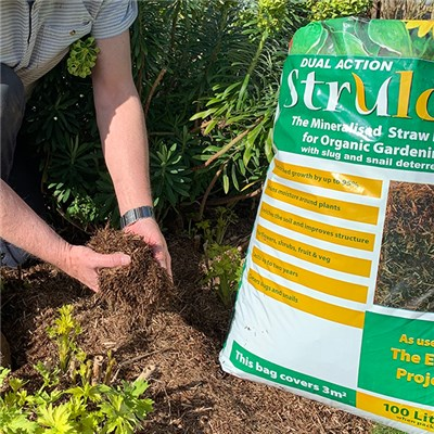 Strulch Mineralised Straw Mulch & Slug Deterrent 100L