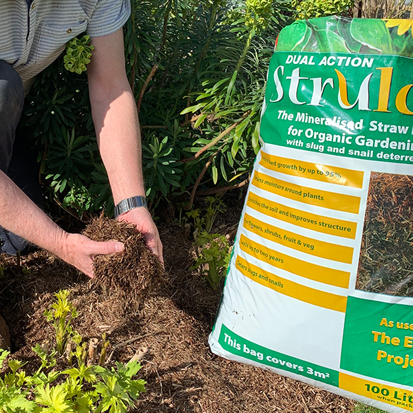 Strulch Mineralised Straw Mulch & Slug Deterrent 100L No Colour