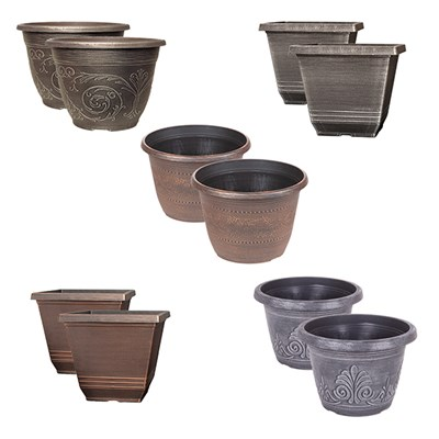 Small 8 to 9in Planters Bundle (5 Pairs)