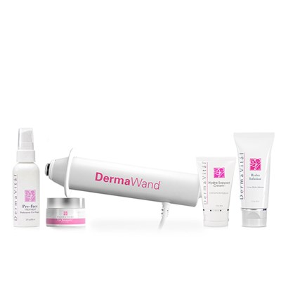DermaWand 5pc Collection Device, Pre-Face Treatment 59ml, Eye Recovery 15ml, Hydra Infusion 50ml and Hydra Support 50ml