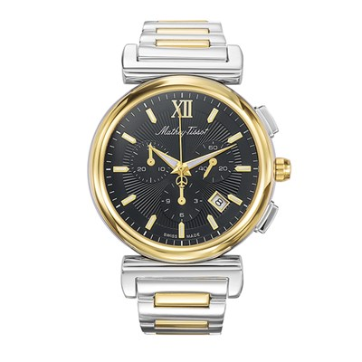 Mathey Tissot Gent's Elegance Chronograph Watch with Stainless Steel Bracelet