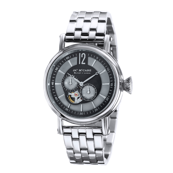 £100 off James McCabe Gent's Automatic Multi-Function Lurgan Watch with Stainless Steel Bracelet