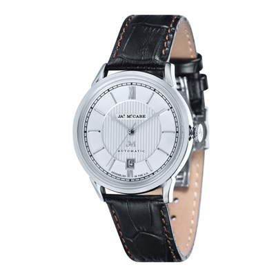 James McCabe Gent's Automatic Heritage Watch with Genuine Leather Strap
