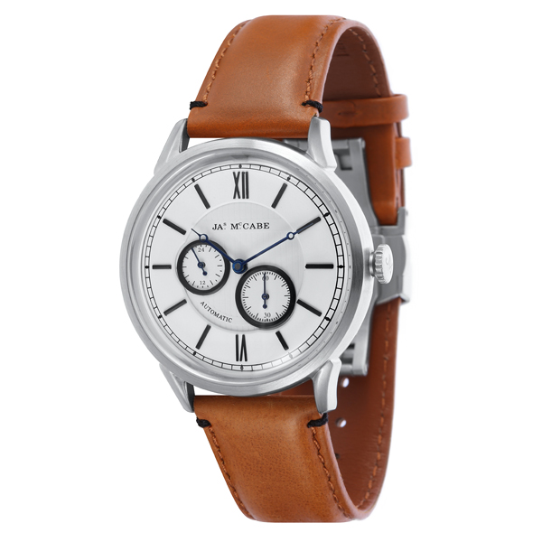 £100 off James McCabe Gent's Automatic Multi-function Heritage Watch with Genuine Leather Strap