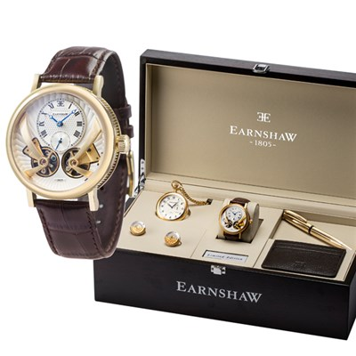 Thomas Earnshaw Ltd Edt Beaufort Anatolia Automatic IP Plated Watch and Deluxe Gift Set