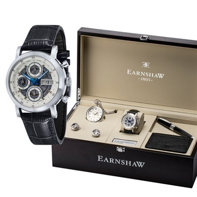 Thomas Earnshaw Ltd Edt Swiss Longcase Sellita Movement IP Plated Watch and Deluxe Gift Set