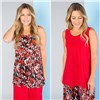 Nicole 2 Pack Print and Plain Cami