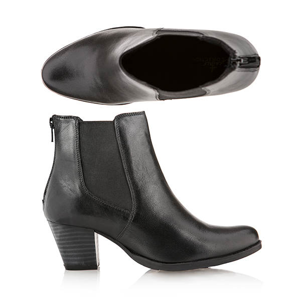 Leather Collection Ankle Boot Black