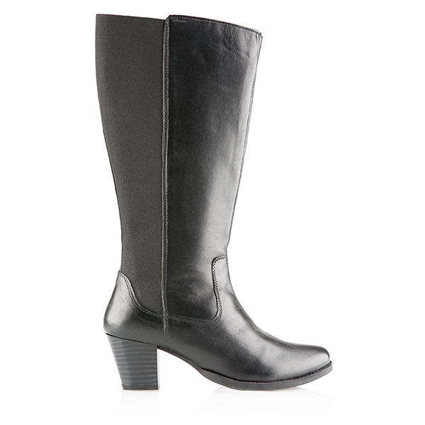 Leather Collection Tall Boot Black