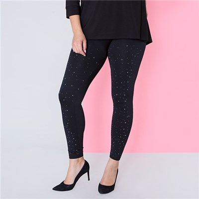 Fleece Lined Diamante Legging