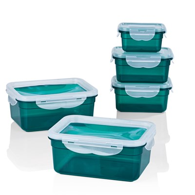 GOURMETmaxx Klick-It 5 Piece Food Storage with Flexible Lids
