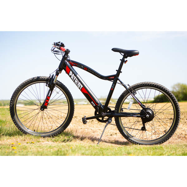 eLife Patriot 6sp 36V 250W Electric Bike with 26inch Wheels and Puncture Proof Tyres Black/Red