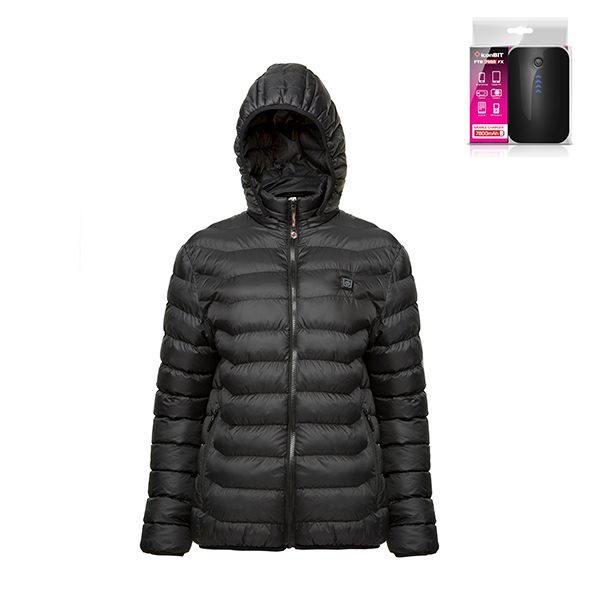 ThermoFusion Heated Jacket with 7800mAh Battery Pack Black