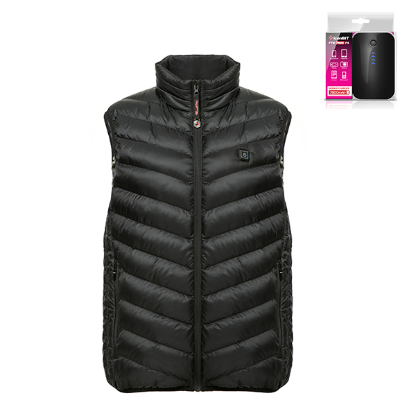 ThermoFusion Heated Gilet with 7800mAh Battery Pack Black