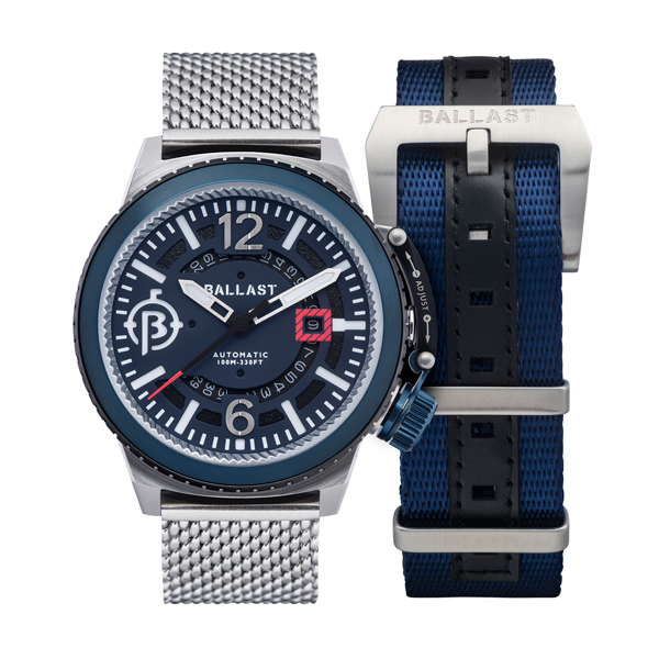 Ballast Gent's Trafalgar Milanese Automatic Watch with Interchangeable Strap Blue