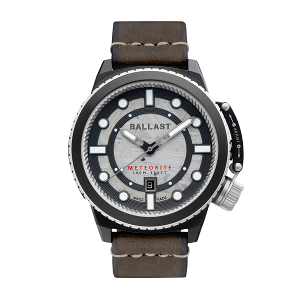 Ballast Gent's Trafalgar Ltd Edt Swiss Automatic Watch with Meteorite Dial and Genuine Leather Strap Brown