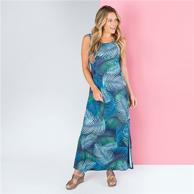 Styled By Print Side Split Maxi Dress