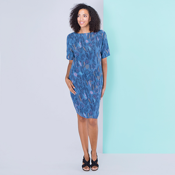 Sugar Crisp Leaf Print Dress Denim