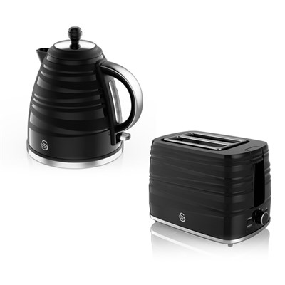Swan Symphony Jug Kettle 1.7L and 2 Slice Toaster Set